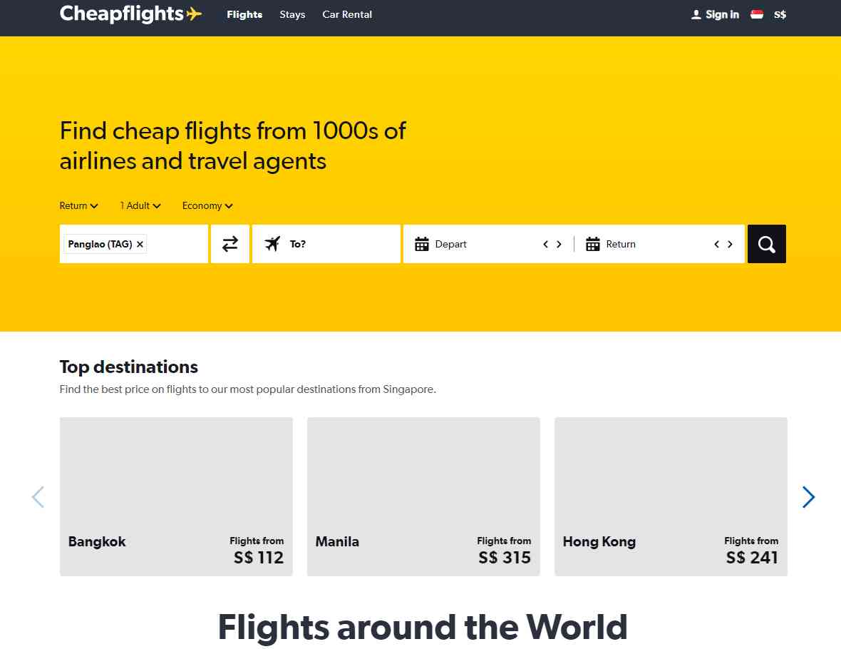 cheap flights Top Flight Booking Websites in Singapore