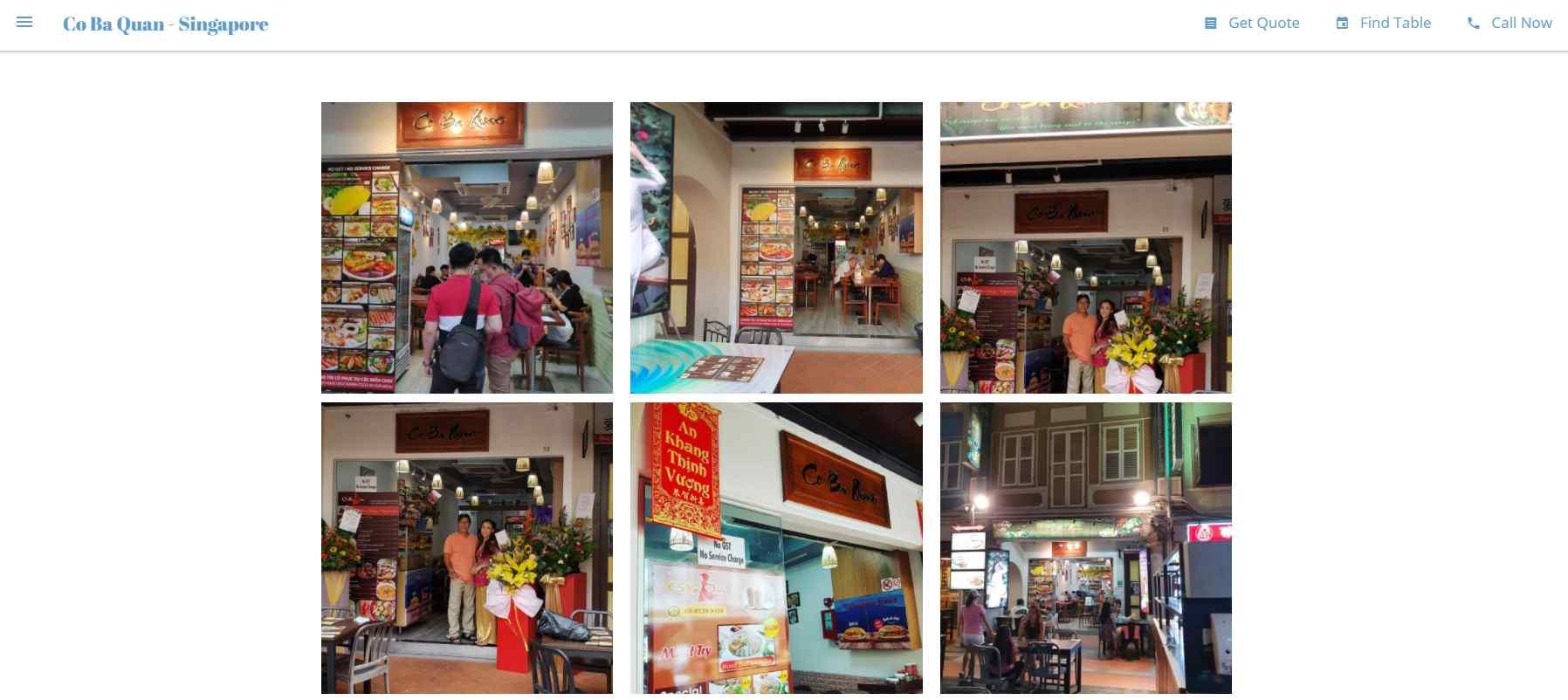 co ba quan Top Vietnamese Food Restaurants in Singapore