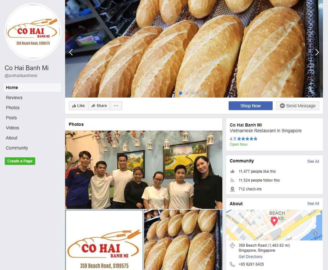 co hai Top Vietnamese Food Restaurants in Singapore