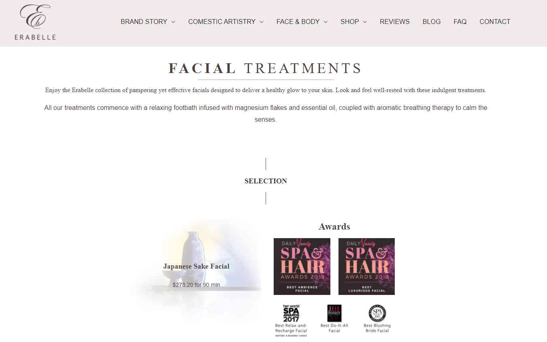 erabelle Top Facial Salons in Singapore