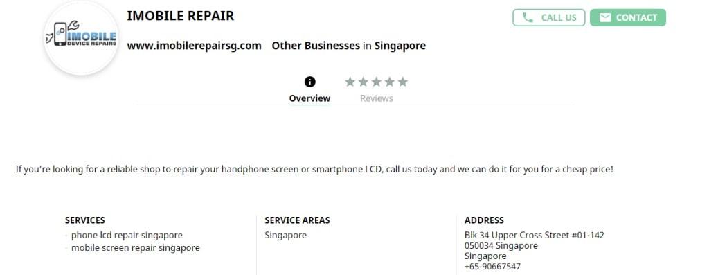 iMobile Top Phone Repair Services in Singapore