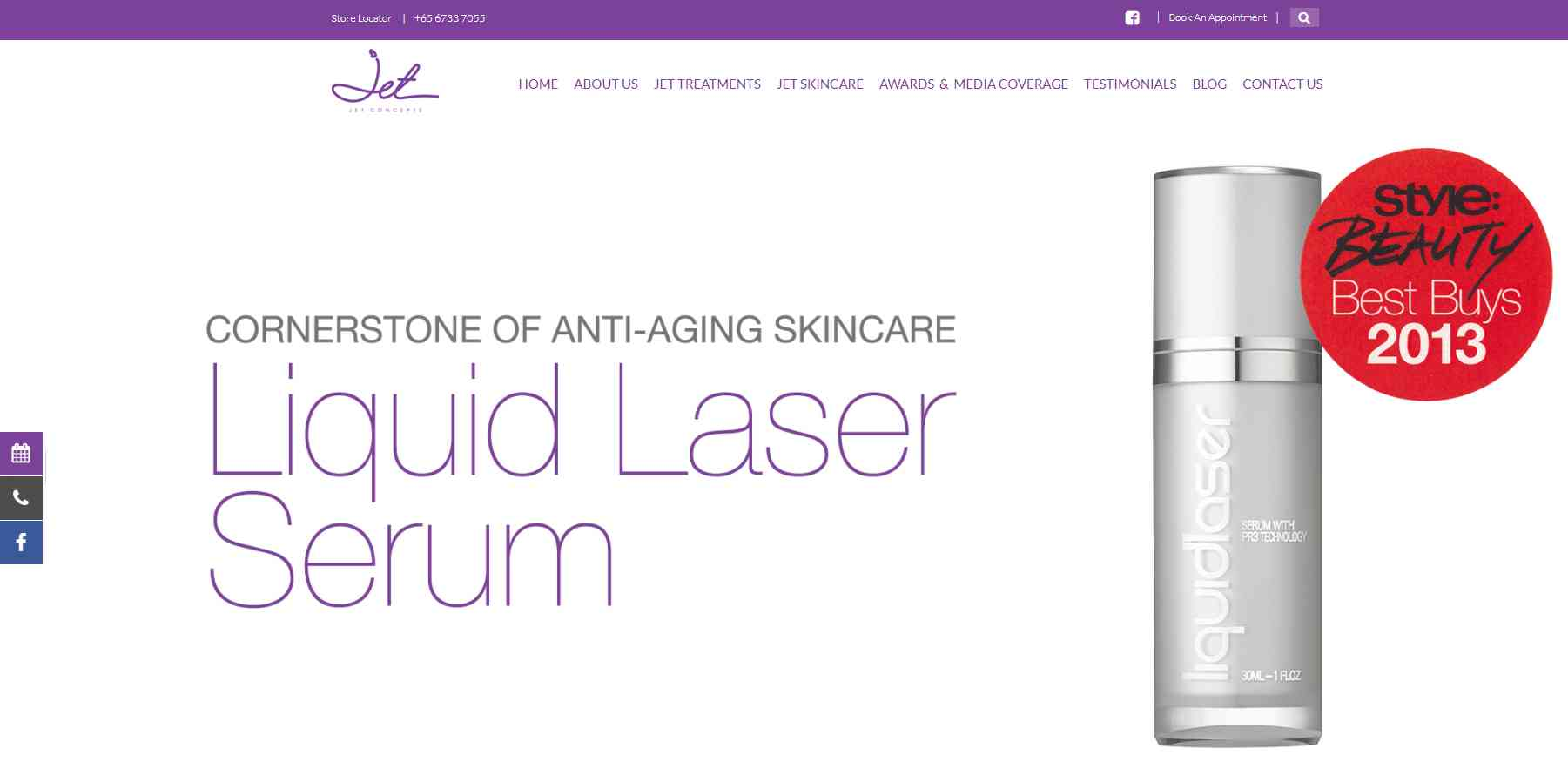 jet concept skin Top Facial Salons in Singapore