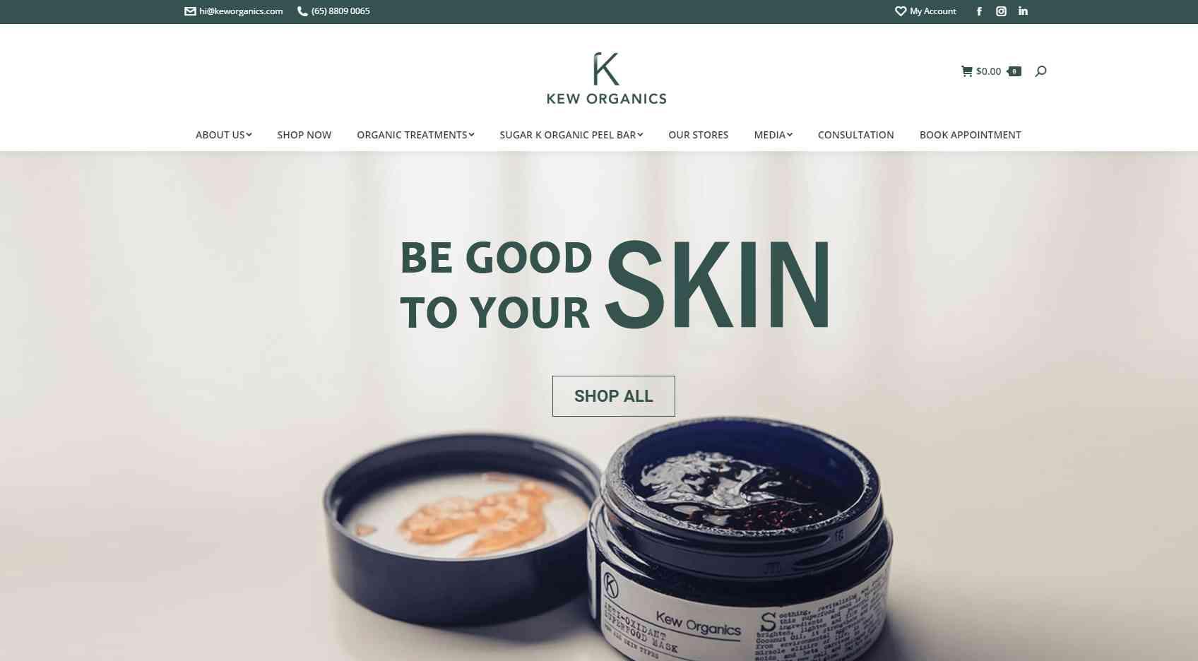 kew organics Top Facial Salons in Singapore
