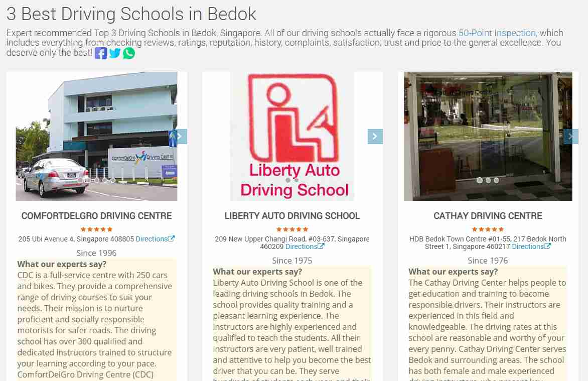 liberty 2 Top Driving Schools in Singapore