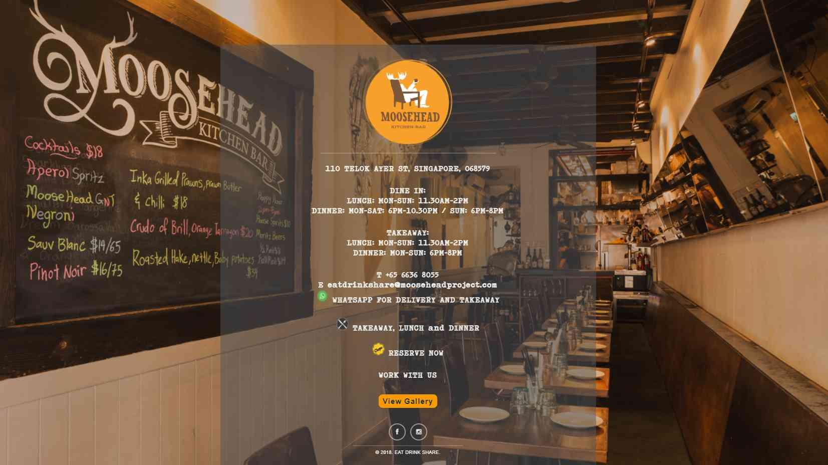moose head Top Mediterranean Restaurants in Singapore