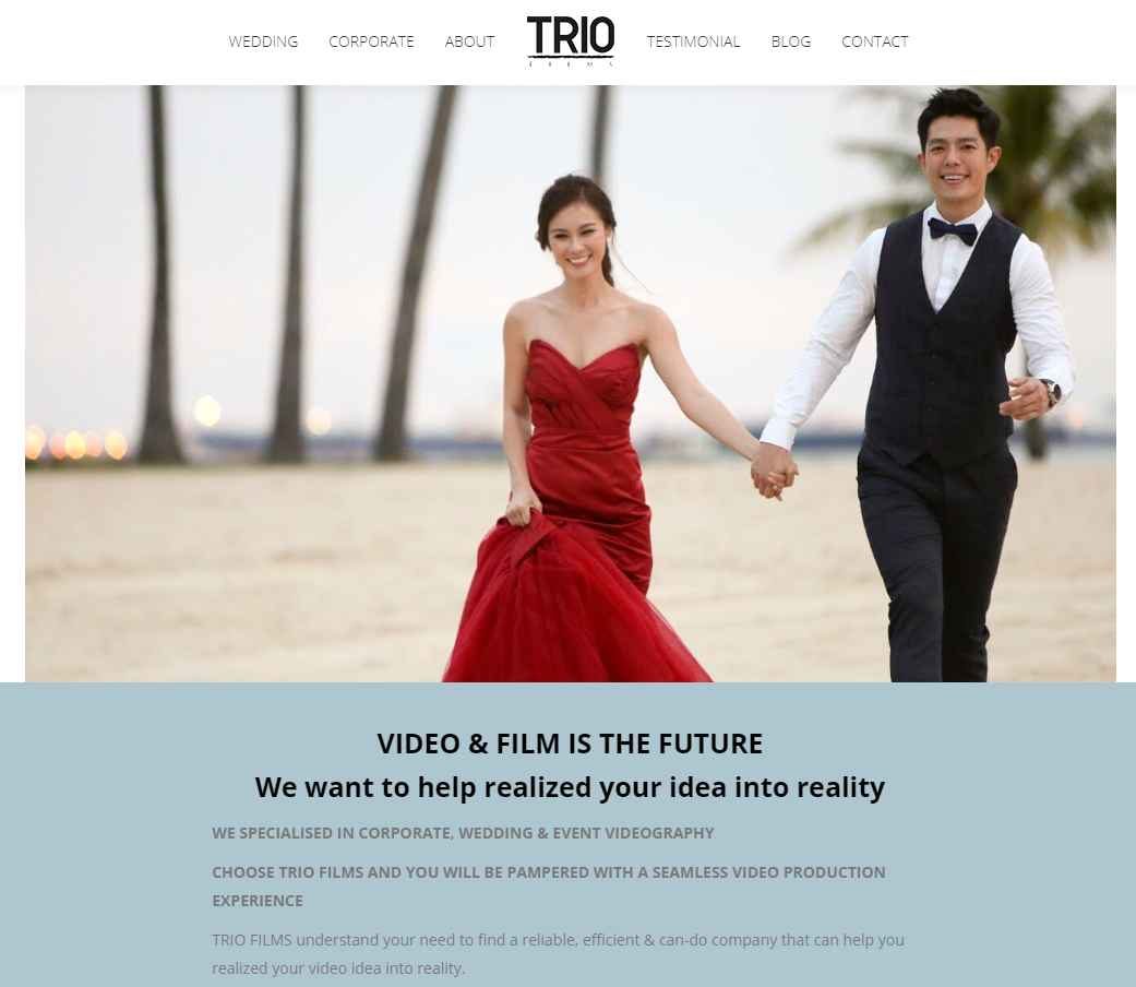 trio films Top Wedding Videography Services in Singapore