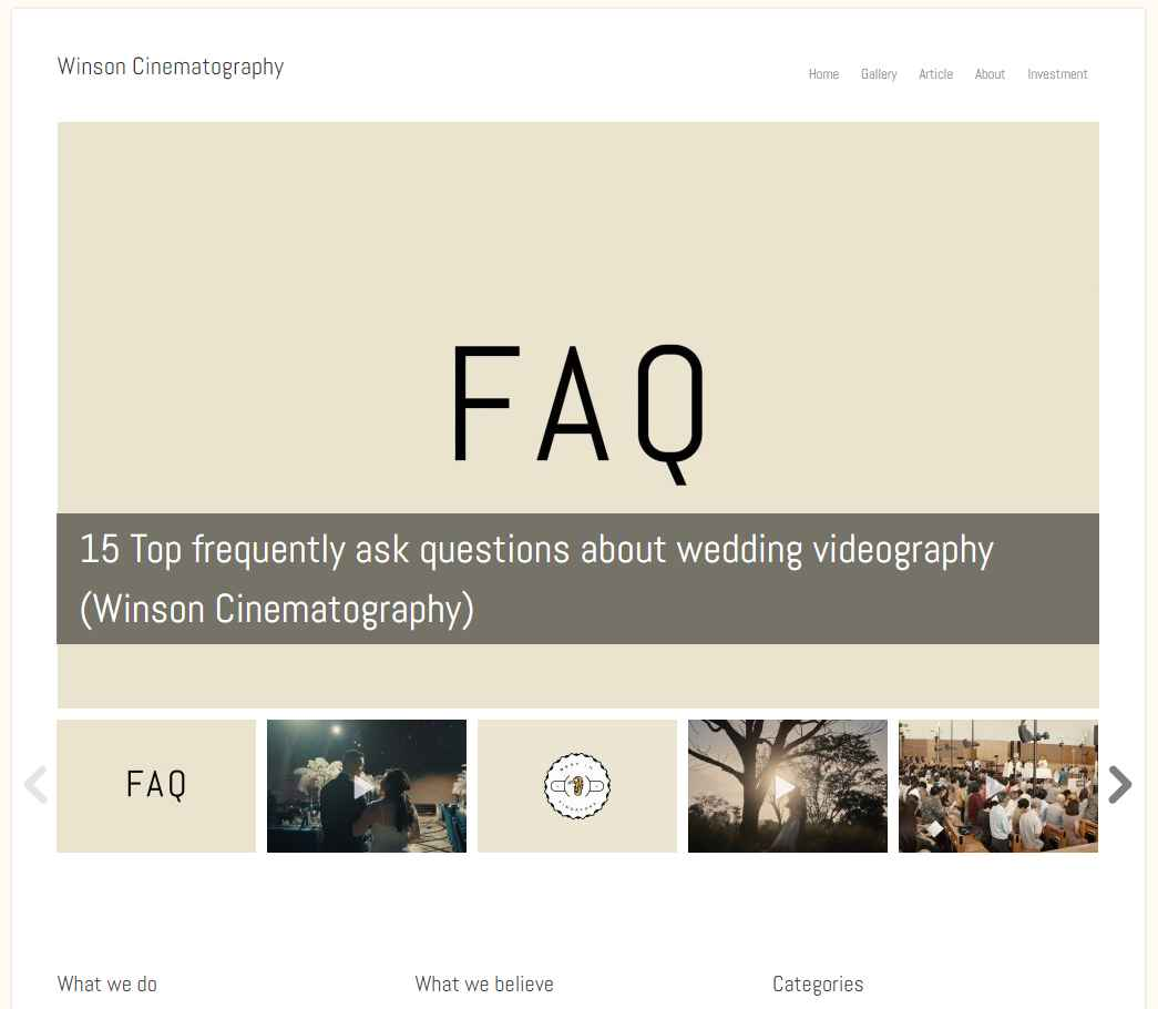 winson cinematography Top Wedding Videography Services in Singapore