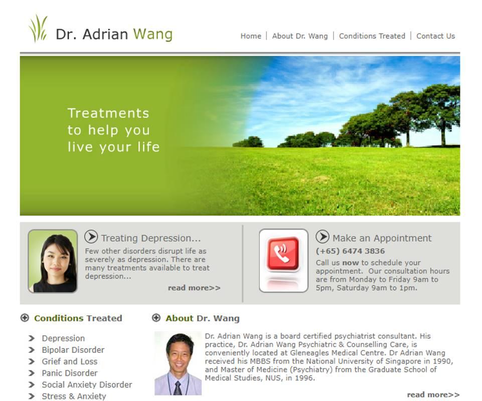 Adrian Wang Top Psychiatric Centres in Singapore