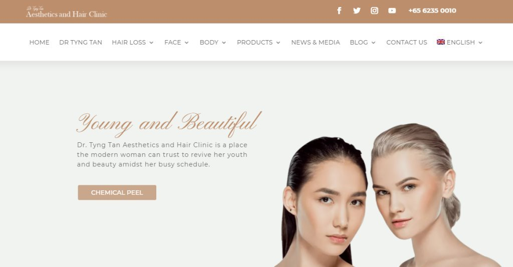 Aesthetic Clinic Top Chemical Peel Treatment Centres in Singapore