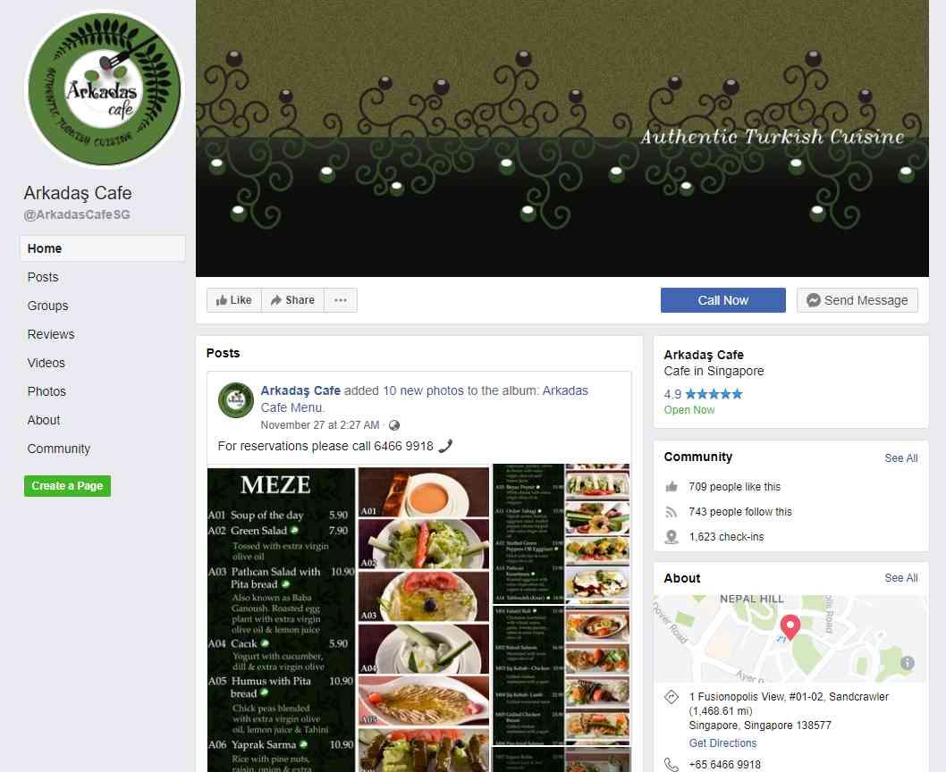 Arkadas Top Turkish Restaurants in Singapore