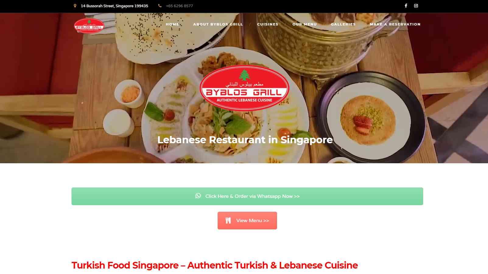 Byblo Grills Top Turkish Restaurants in Singapore