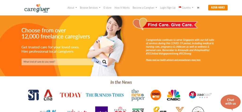 Caregiver Asia Top Elder Care Service Providers in Singapore