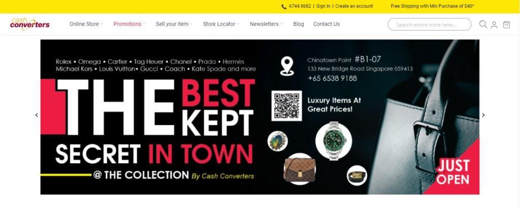 Cash converters Top Thrift Shops inSingapore