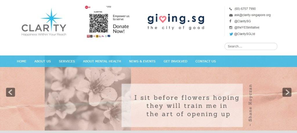 Clarity Singapore Top Psychiatric Centres in Singapore