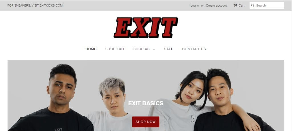 Exit co. Top Thrift Shops in Singapore