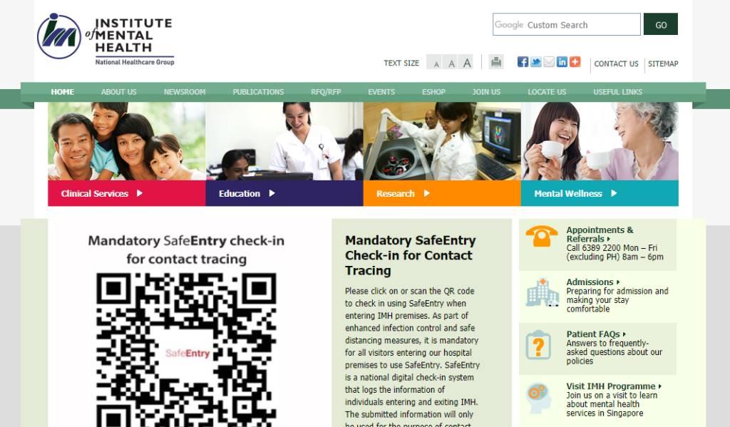 Institute of Mental Health Top Psychiatric Centres in Singapore