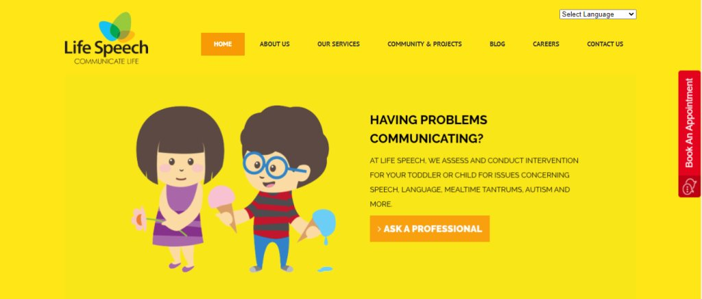 Life Speech Top Speech Therapist in Singapore
