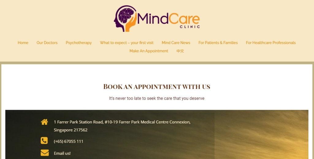 Mind Care Top Psychiatric Centres in Singapore