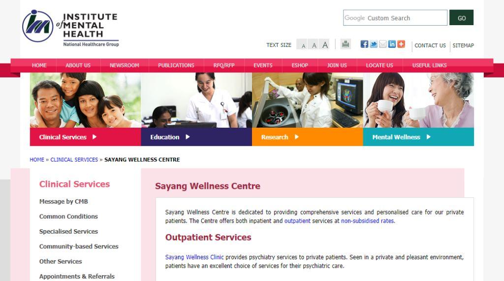 Sayang Wellness Top Psychiatric Centres in Singapore