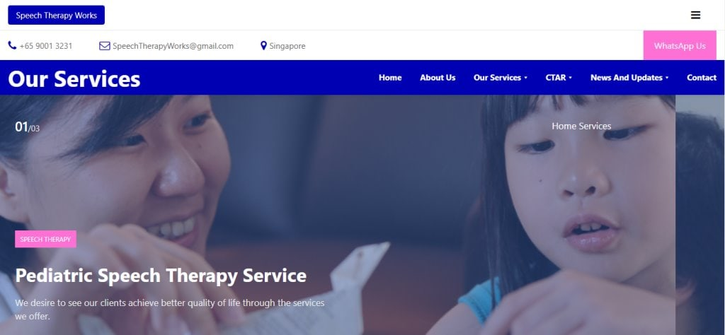 Speech therapy Top Speech Therapist in Singapore