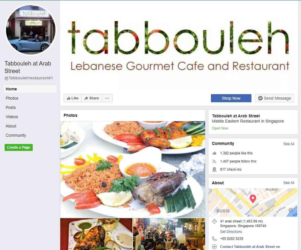 Tabbouleh Top Turkish Restaurants in Singapore