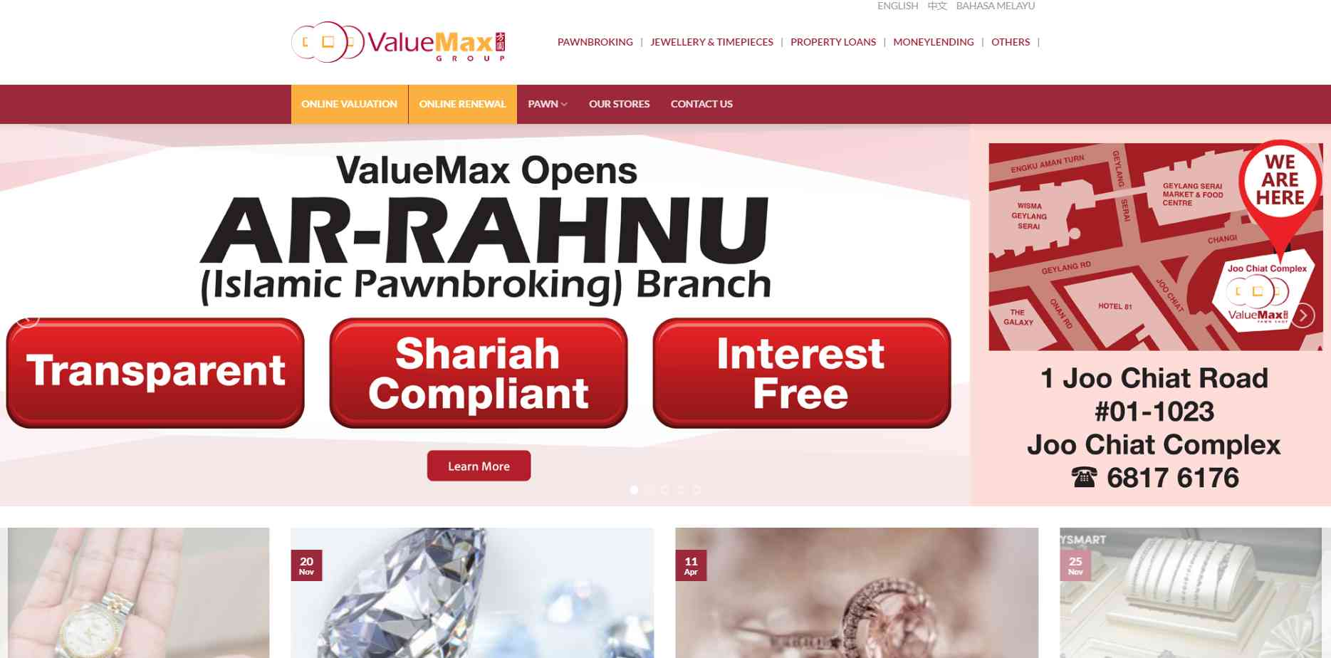 Value max Top Pawn Shops in Singapore