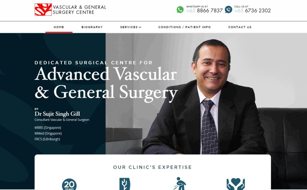 Vascular & general Surgery Center Top General Surgeons in Singapore