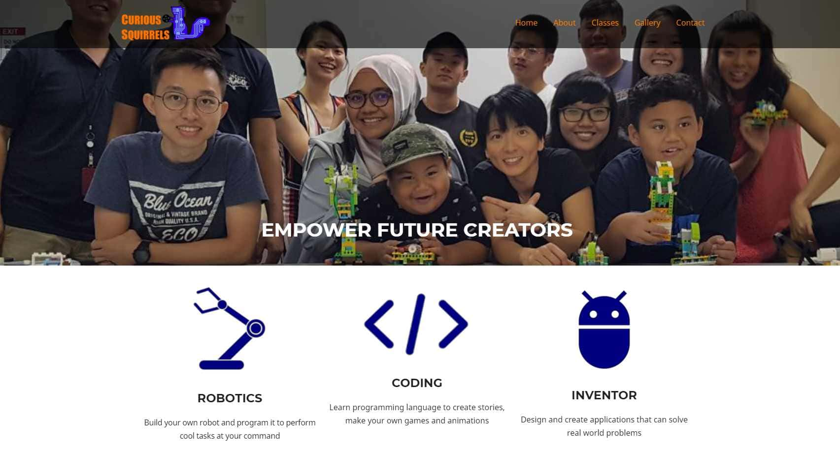 curious squirrels Top Coding Courses for Kids in Singapore