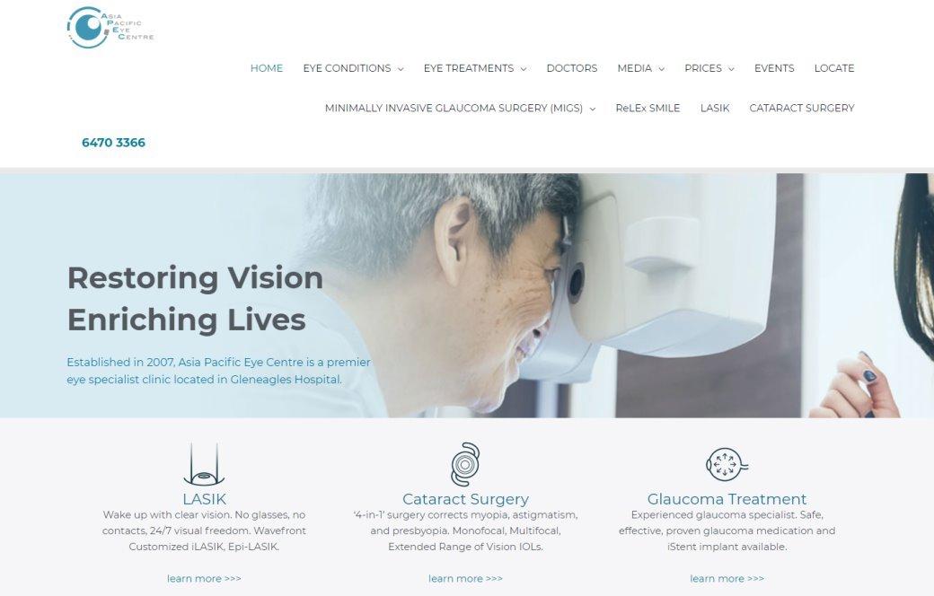 APEC Top Cataract Surgery in Singapore