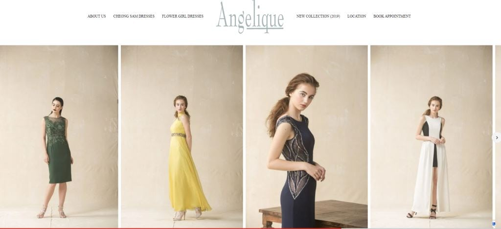 Angelique Top Evening Gown Stores in Singapore