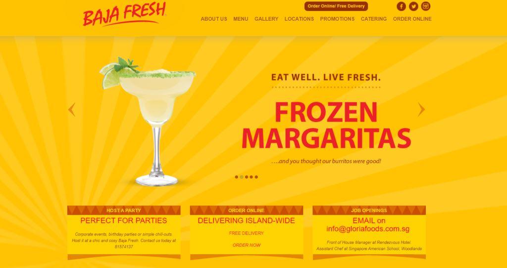 Baja Fresh Top Mexican Restaurants Singapore