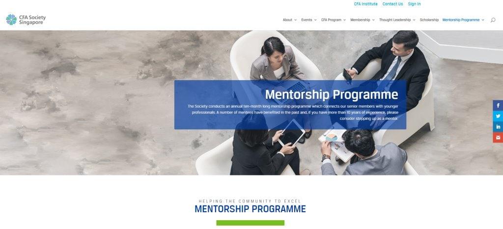 CFA Top Mentorship Programmes in Singapore