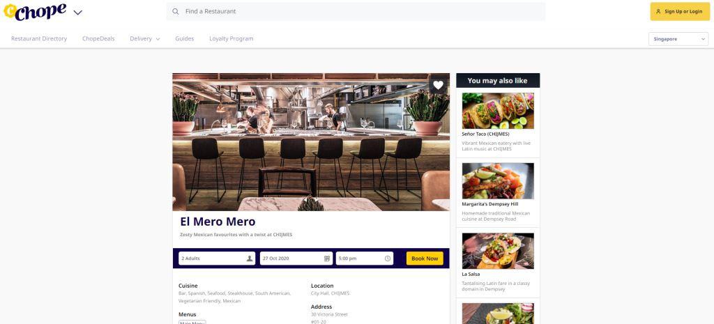 El Chope Top Mexican Restaurants Singapore