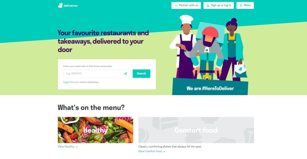Deliveroo Top Food Delivery Services in Singapore