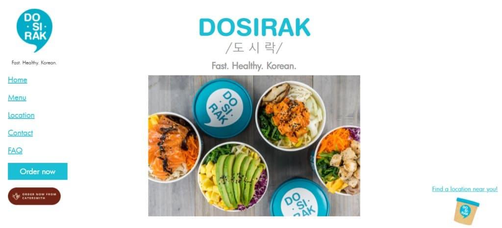 Dosirak Top Healthy Food Restaurants In Singapore