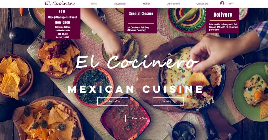 El Cocinero Top Mexican Restaurants Singapore
