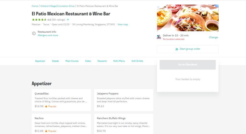 El Patio Top Mexican Restaurants Singapore