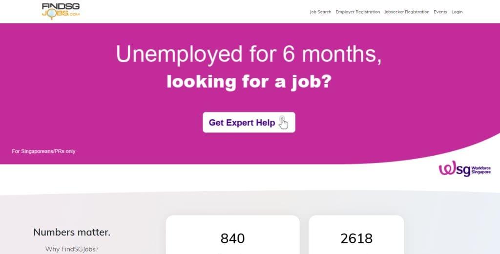 Find SG Jobs job posting site singapore