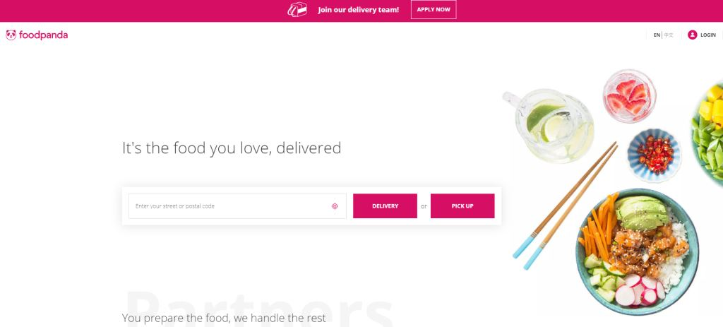 FoodPanda Top Food Delivery Services in Singapore
