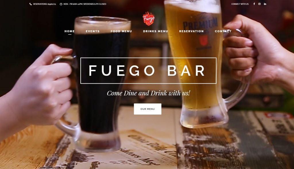 Fuego Bar Top Mexican Restaurants Singapore