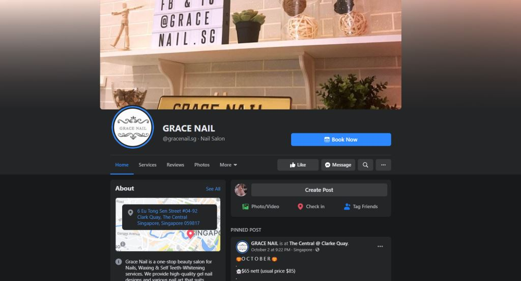 Grace NAil Top Manicure Services in Singapore