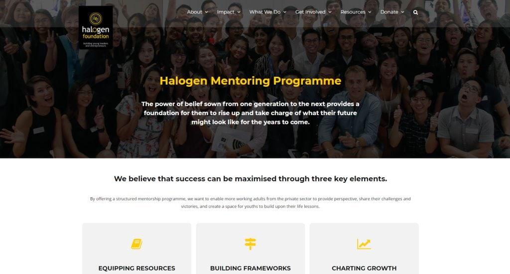 Halogen Foundation Top Mentorship Programmes in Singapore