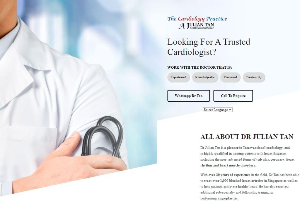 Julian Tan Heart Top Cardiologists in Singapore