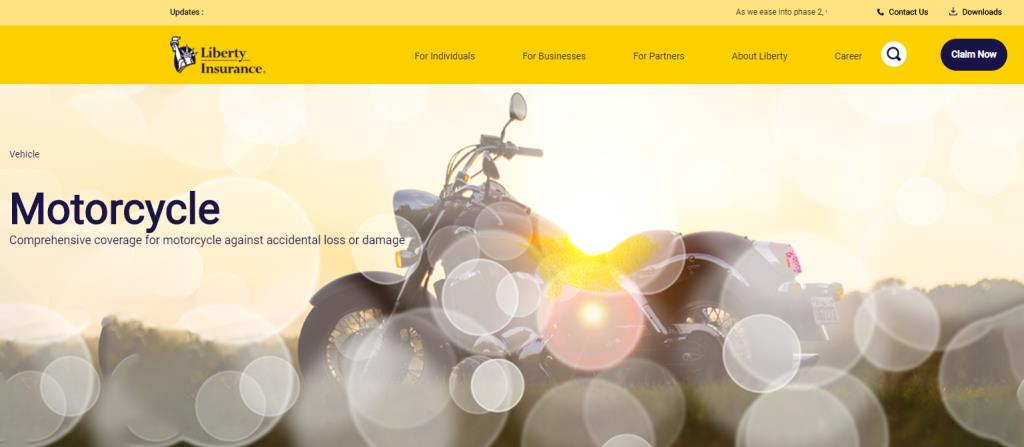 Liberty Insurance Top Motorcycle Insurance Providers in Singapore