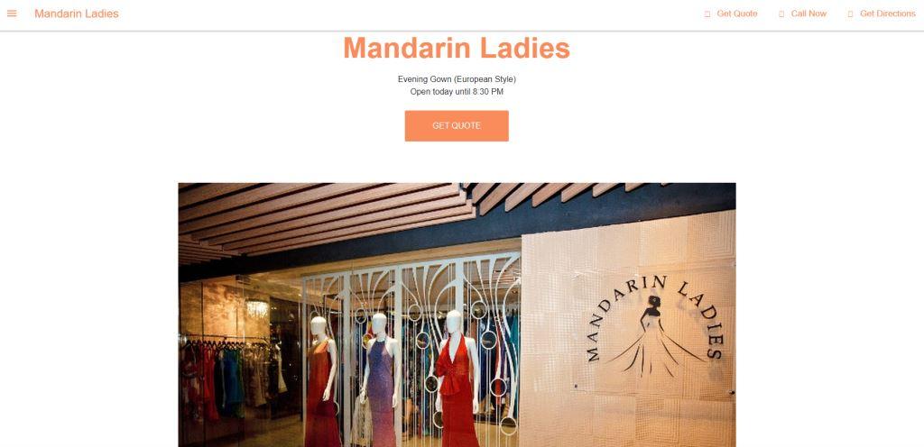 Mandarin Ladies Top Evening Gown Stores in Singapore