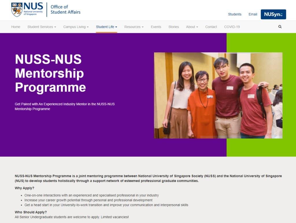 NUS Top Mentorship Programmes in Singapore