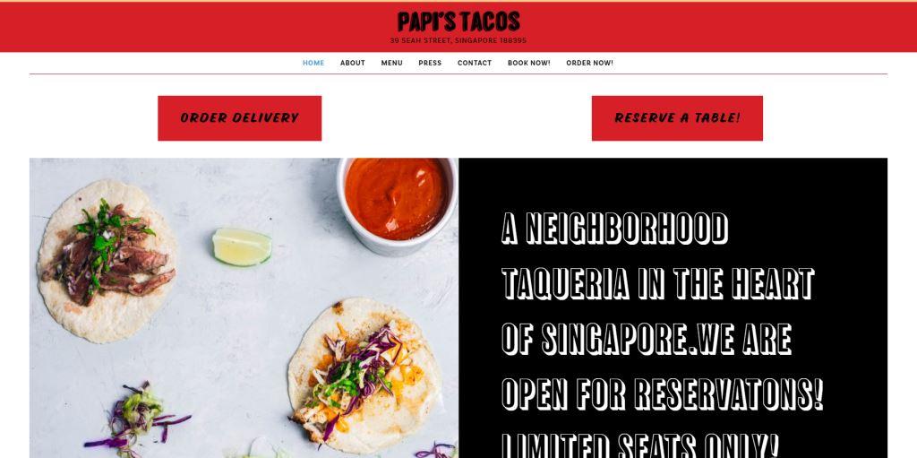Papi's Taco Top Mexican Restaurants Singapore