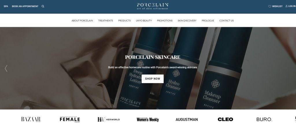 Porcelain Top Facial Spas in Singapore