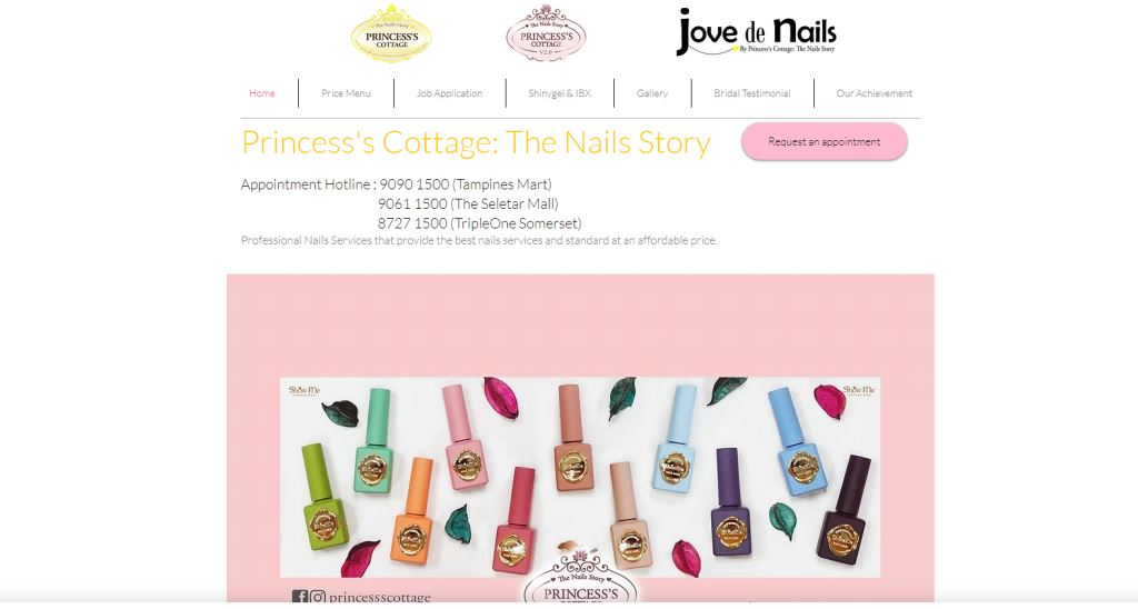 Princess Cottage Top Manicure Services in Singapore