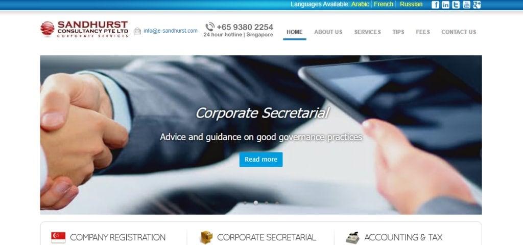 Sandhurst Top Corporate Secretarial Service Providers in Singapore